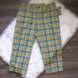 Liz Claiborne Sloan Cropped Cotton Capri Pant Sz 8